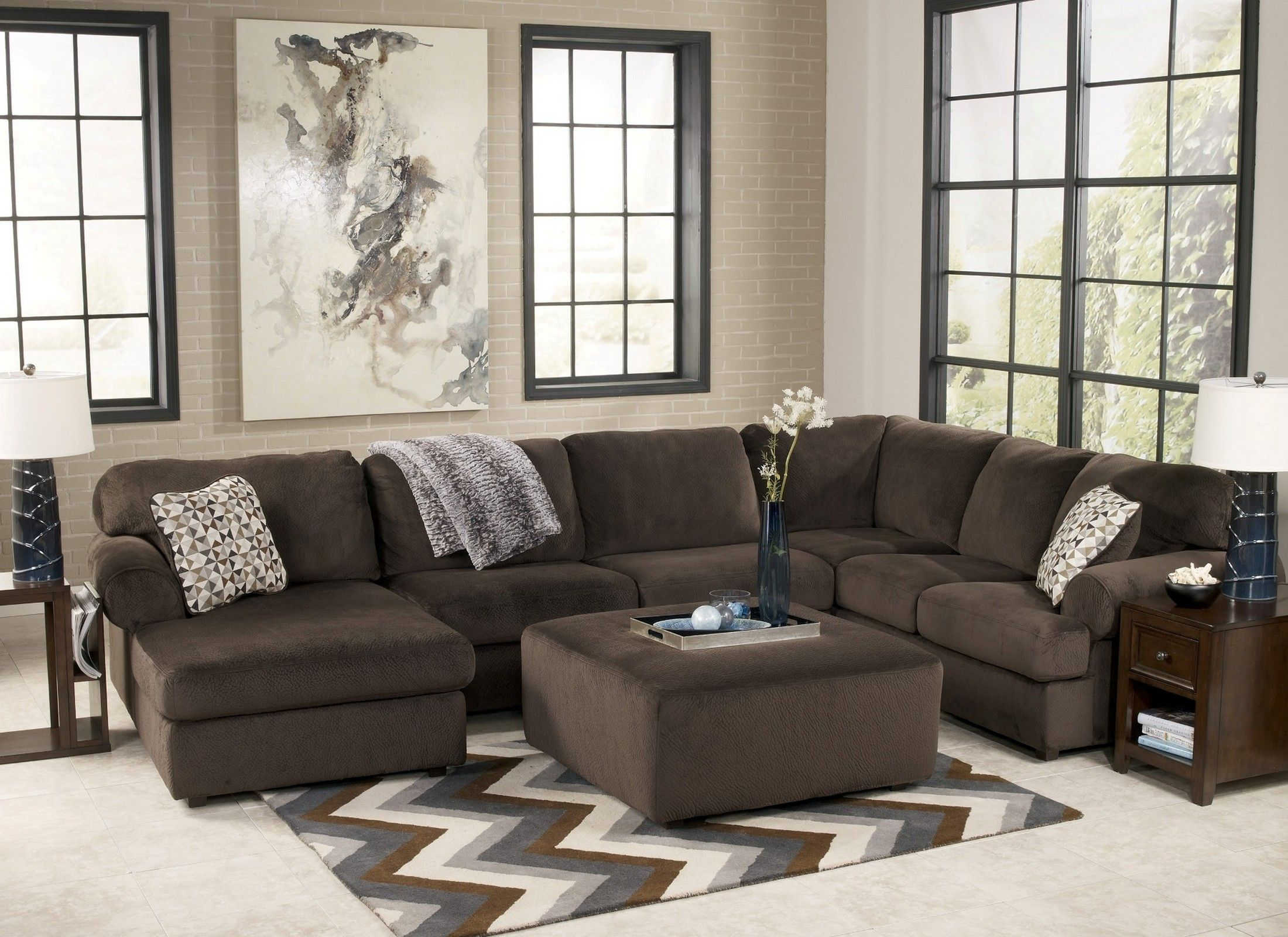 Jessa Place Chocolate Laf Sectional Asl 3980416 Sec In 2020 Sectional Sofa Romantic Living Room Living Room Sets Furniture