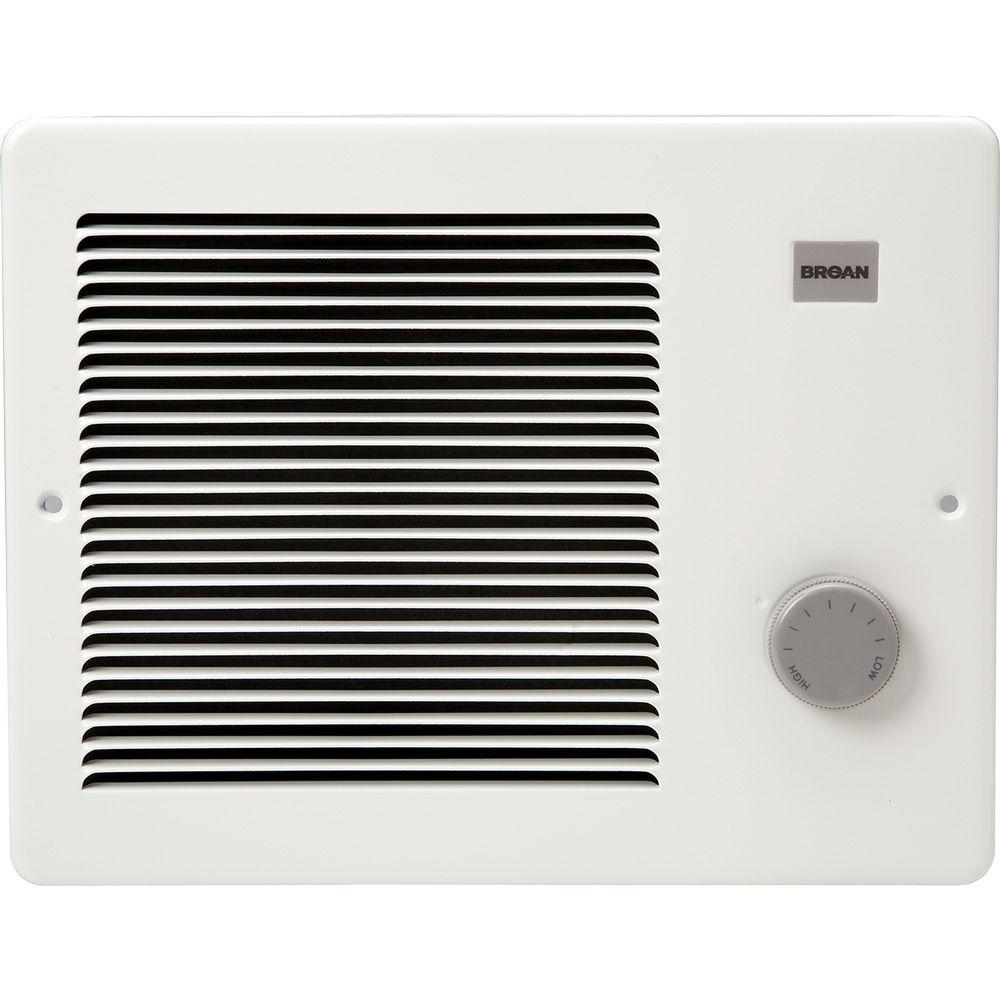 Broan Comfort Flo 1500 Watt 12 In Wall Heater 174 Bathroom Heater Electric Fan Best Space Heater