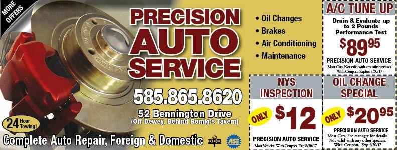 PRECISION AUTO SERVICE Auto service, Repair and