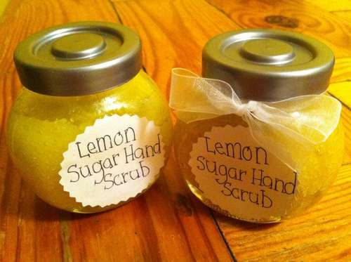Recipe for Lemon Hand Scrub.  Would make cute favors for this theme.