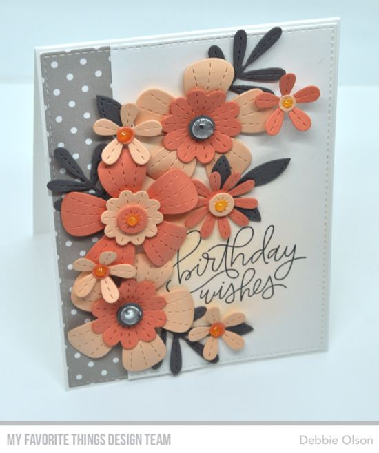 Birthday Wishes: Stitched Blooms Card Kit Countdow