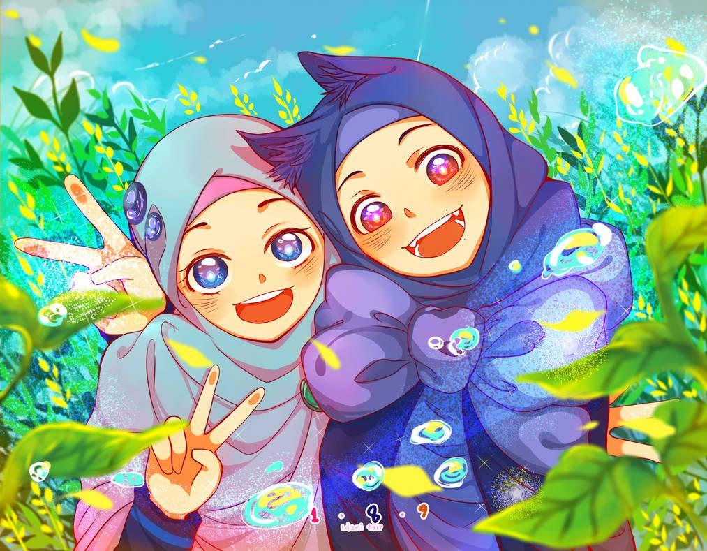 Idzkaizenlmizu Anime Muslim Islamic Cartoon Kawaii Anime