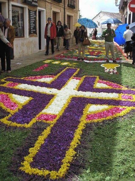 Alfombra de flores alfombra pinterest - Alfombras portugal ...