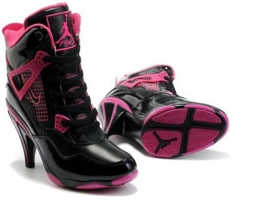 Air Jordan 4 series Cheap Women Nike Air Jordan 4 High Heels Black Pink Air Jordan 4 High Heels shopping ladies favorite nike dunk high heels