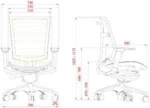Charmant Standard Desk Chair Size