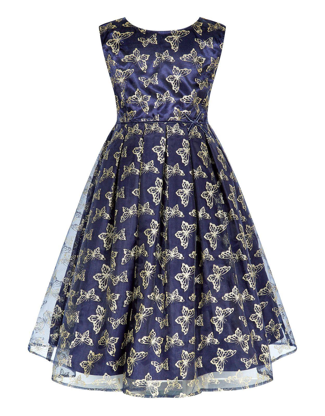 Glitter Butterfly Dress | Navy | Monsoon