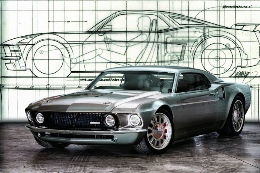 Mustang Mach 40 1969 1 Combined With A 2006 Gt40 For 850 Hp
