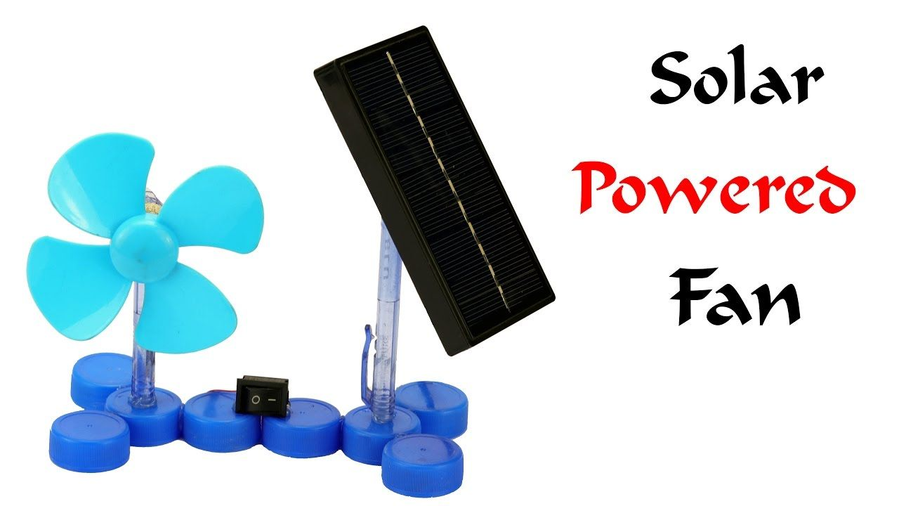 How To Make A Mini Solar Powered Electric Fan At Home Easy Way