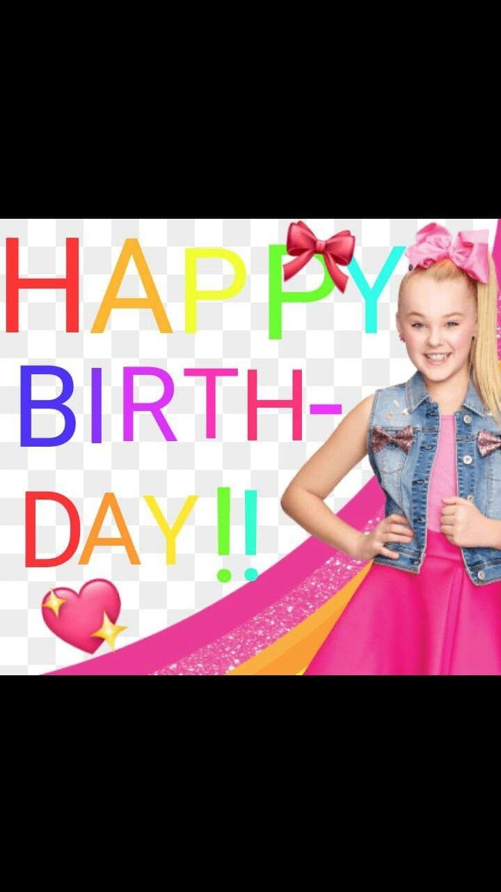 Jojo Siwa Happy Birthday : happy, birthday, Happy, Birthday, Jojo!!!, Jojo,, Siwa,, Lollipop