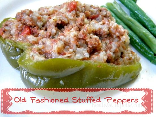 Old Fashioned Stuffed Bell Peppers Recipe Stuffed Peppers Stuffed Bell Peppers Bell Pepper Recipes