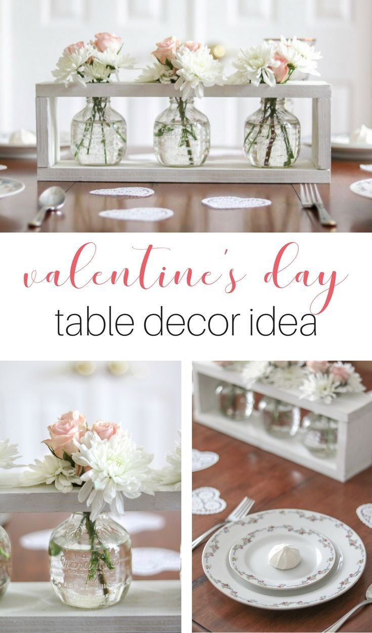 Valentineus tablescape with a sweet farmhouse style come see this