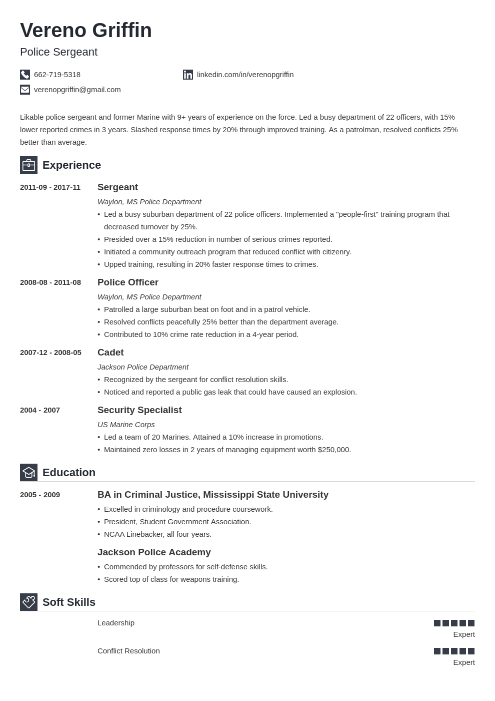 Police Officer Resume Example Template Iconic Police Officer Resume Resume Examples Job Resume Examples