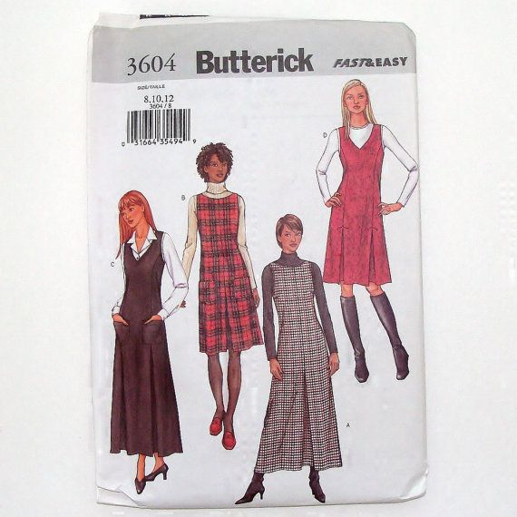 Butterick Fast and Easy Misses\' Jumper Sewing Pattern #3604 - UNCUT ...