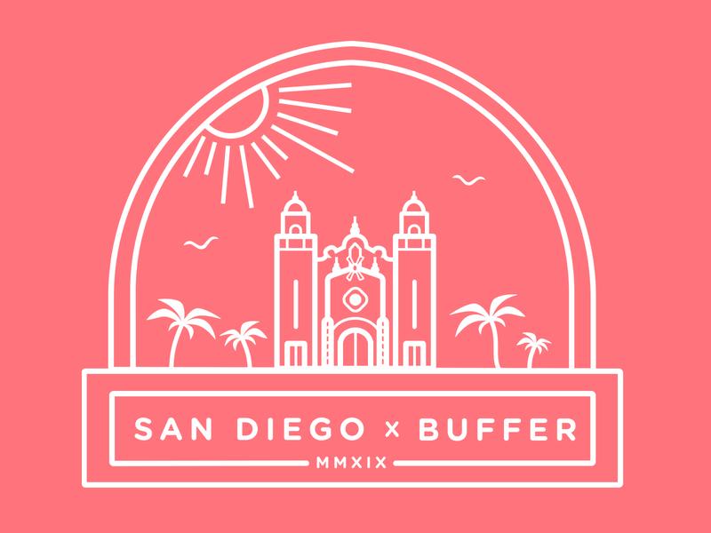 Buffer San Diego Retreat T Shirt Design Tshirt Designs San Diego San