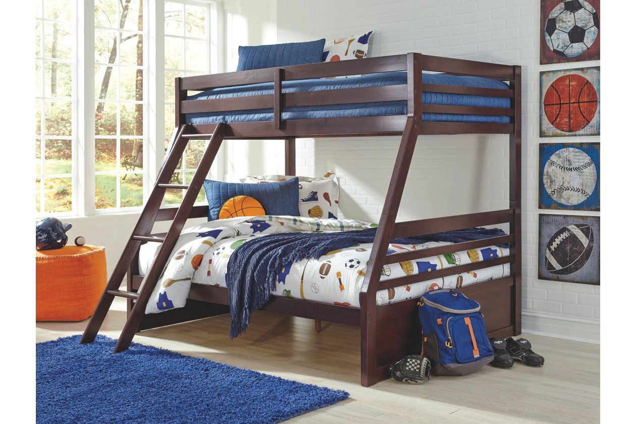 Halanton Twin Over Full Bunk Bed W Storage Ashley Furniture Homestore Twin Full Bunk Bed