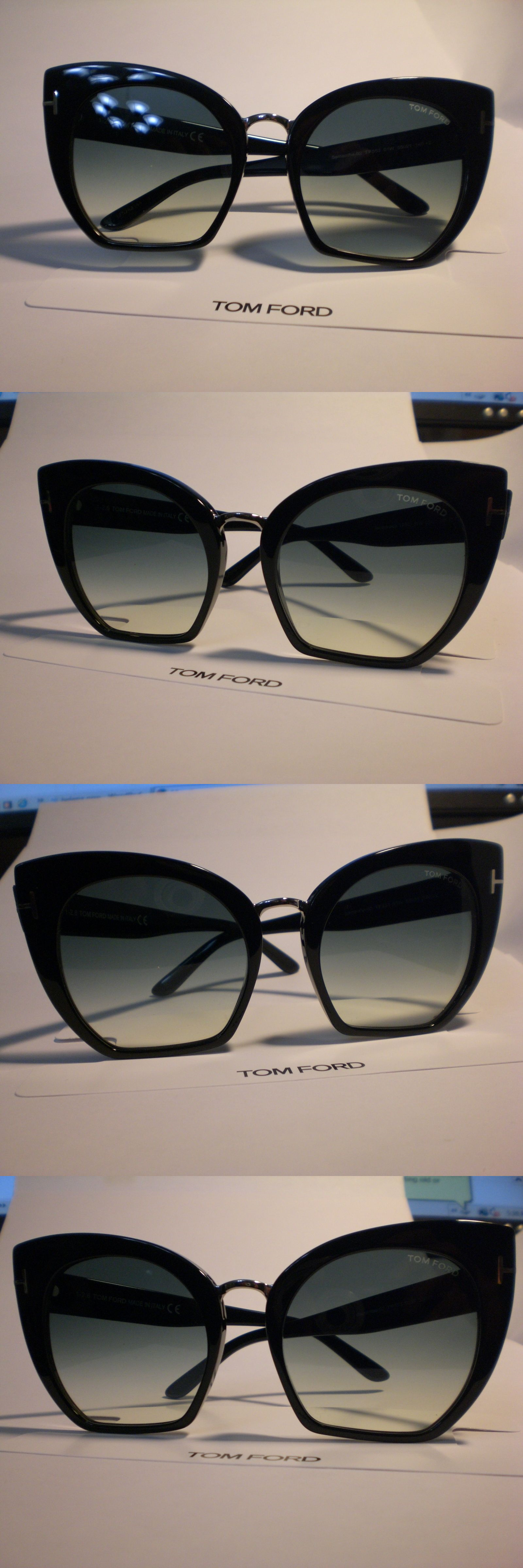 e3308d319c8cb Fashion Eyewear Clear Glasses 179248  Tom Ford Samantha 02 Tf553-01W Black  Cropped Cat