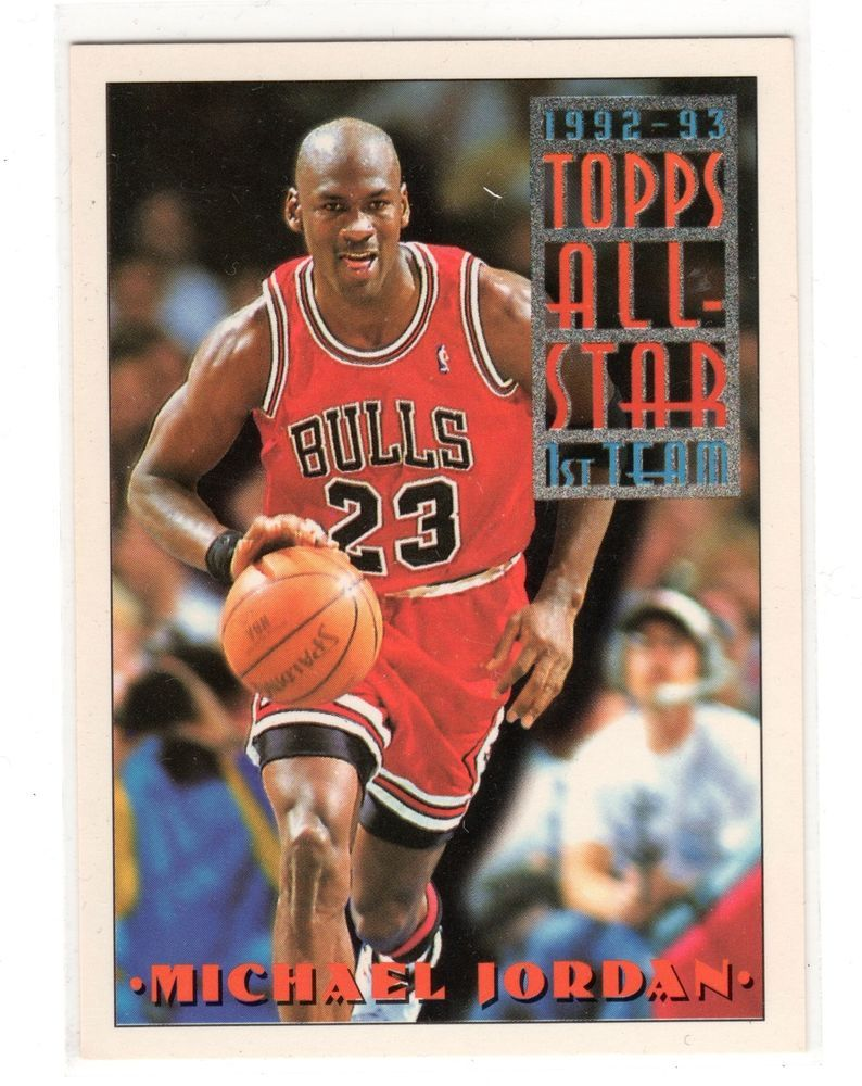 Michael Jordan Card Topps 9293 All Star .. Nice Michael