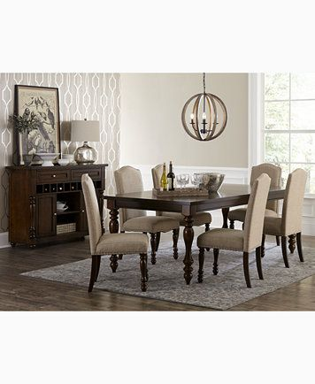 Kelso 9 Pc Dining Set Dining Table And 8 Side Chairs Macys