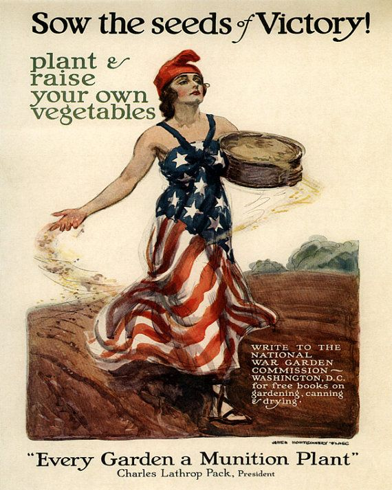 Photo of War Victory Garden Plant Vegetables Garden Munition Plant American 16″ X 20″ Vintage Poster Repro Paper/Canvas FREE SHIPPING in USA