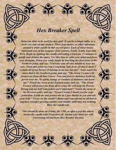 Hex breaker spell