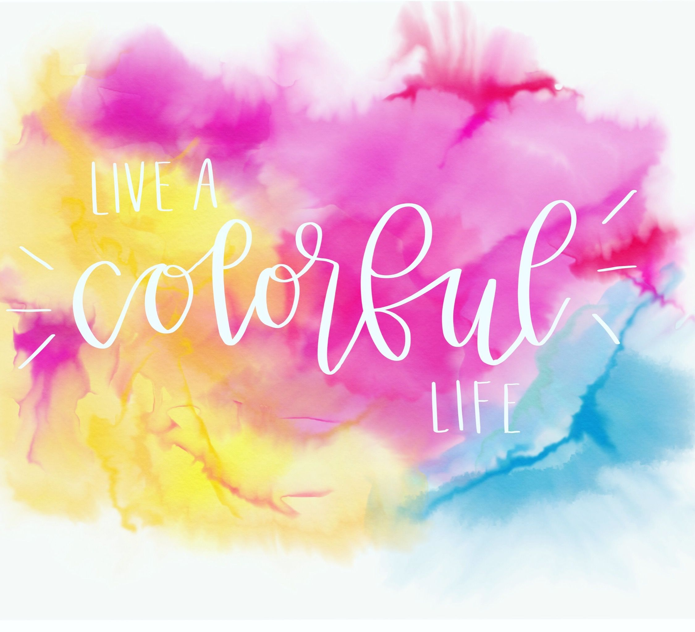Live a colorful life; watercolor quote free   Watercolor quote, Color, Neon  signs