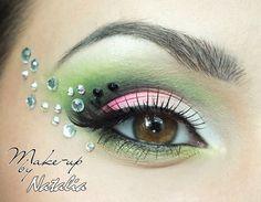 eye makeup green white - Google Search