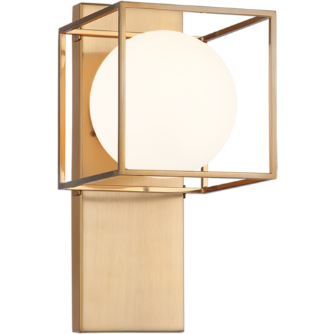 Squircle 1 Light Wall Sconce Gold Wall Lights Sconces Wall Sconces
