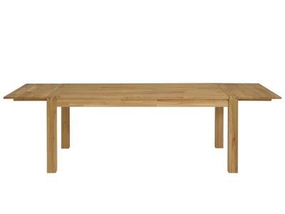 table a manger 2 allonges bois finition huilee l180 260xl90xh76cm hawke