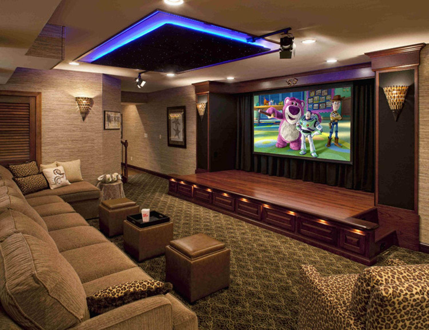 20 Stunning Basement Ceiling Ideas Are Completely Overrated Home Cinema Room At Home Movie Theater Home Theater Rooms