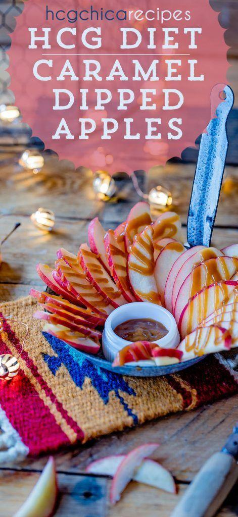 P2 hCG Diet Fruit Dessert Recipe: Caramel Dipped Apple