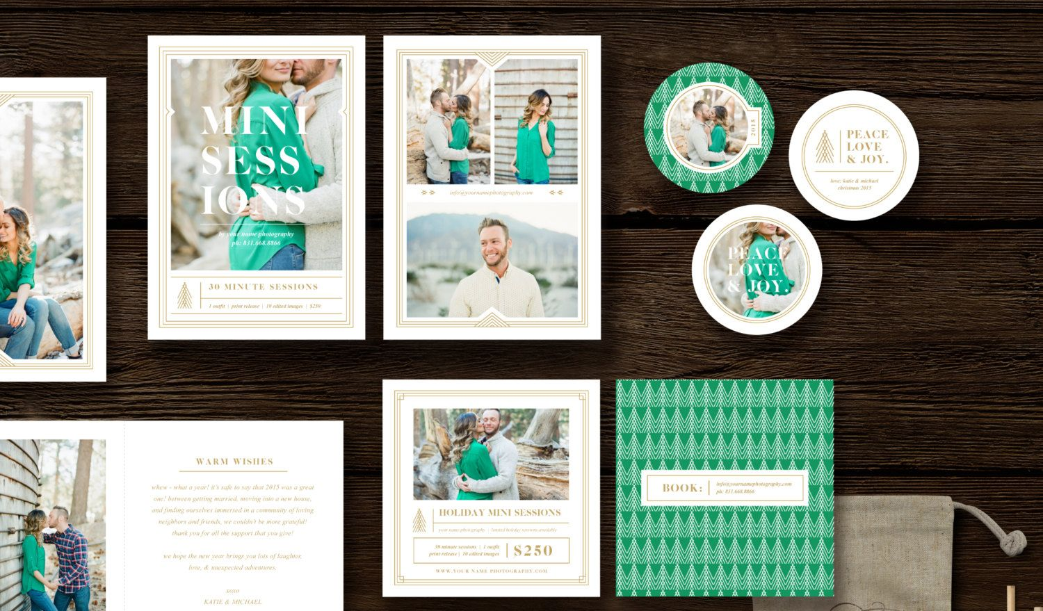 Christmas Card Templates For Professional Photographers Customizable Photoshop Holiday Card Template Photographer Marketing Template Christmas Card Template