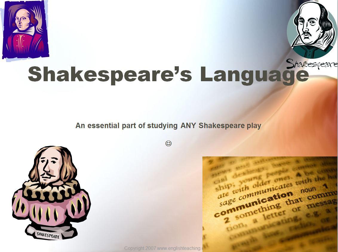 shakespeare language techniques