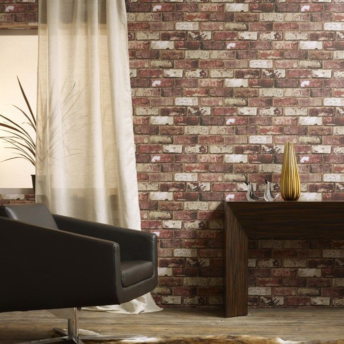 Red Brick Wallpaper By Hemingway Brick Wall Coverings By Graham