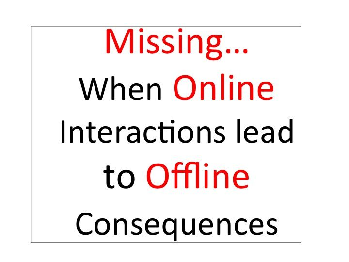 """Missing Teen Found with Older Man He Met on Facebook - Keeping Kids Safe Online.    Parents: Do you know who your child's online friends are? Who are they chatting with? What are they posting? What are they sharing? Get in their business...Your actions could potentially save them from """"offline"""" danger. The attached story is a reminder of the importance of monitoring your child's online interactions.    Please share!    #onlinesafety"""