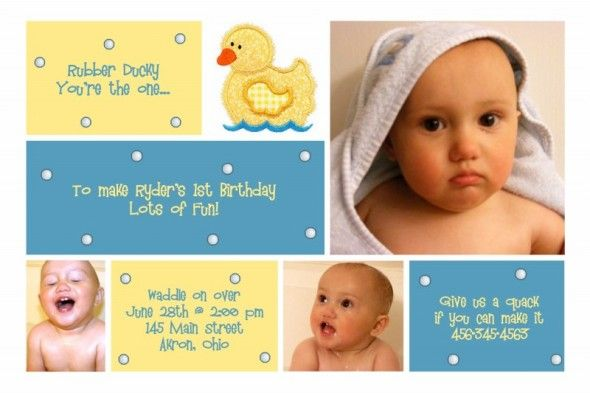1st birthday invitation for ryder rubber duck photo card rubber 1st birthday invitation for ryder rubber duck photo card filmwisefo Image collections