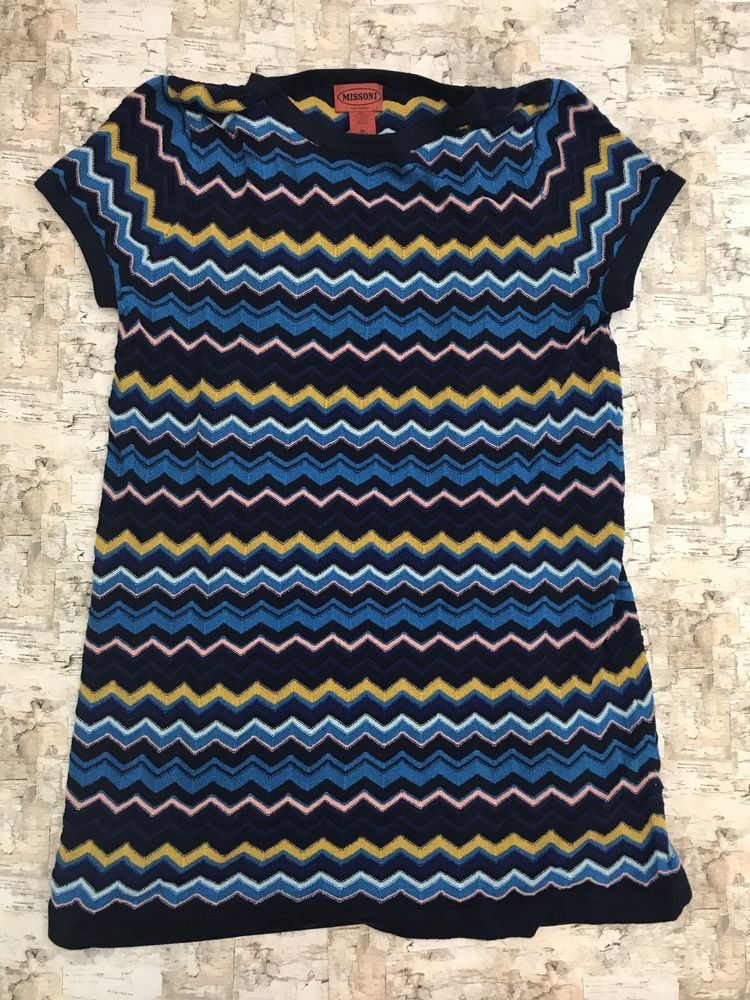 Missoni for Target Stretchy Short Sleeve Knit Shift Dress Brown Size Extra Large  | eBay