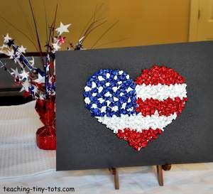 Toddler Activities: Celebrate 4th of July Make a Heart ...