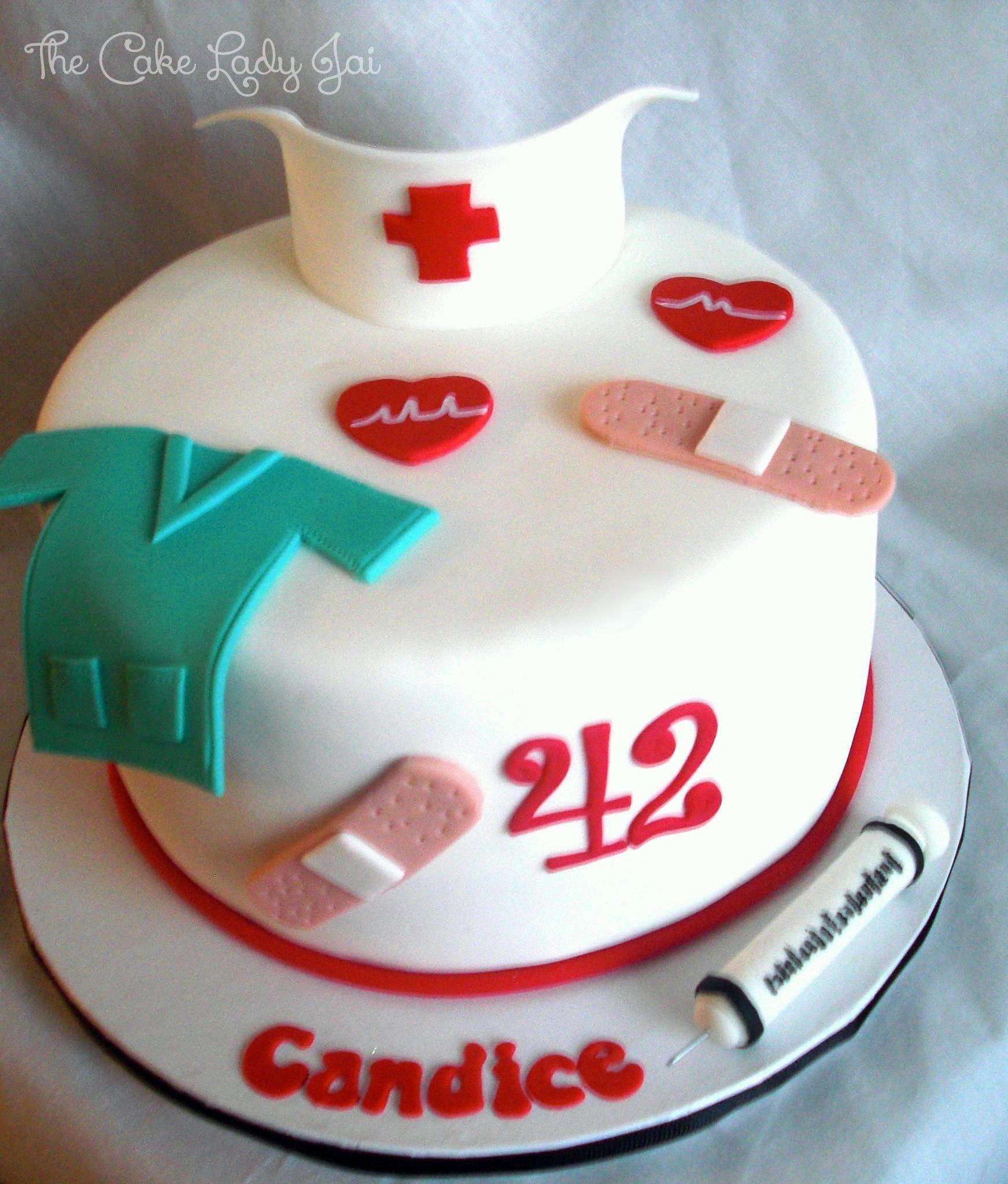 Small And Simple Cake For Registered Nurse Cake Nursing Cake Doctor Cake