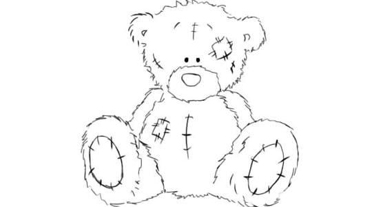Как нарисовать мишку Тедди карандашом поэтапно | Мишки ...