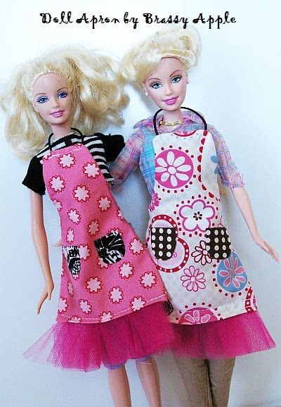 Free Barbie Doll Sewing Pattern: Apron Tutorial | Sewing | Pinterest ...