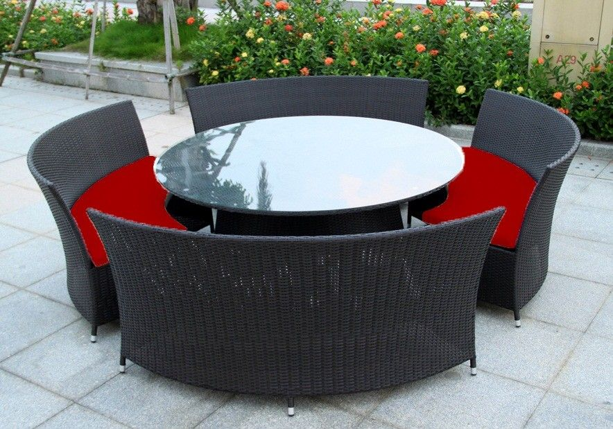 Terrific New Wicker Bbq Indoor Outdoor Round Dining Setting Table 12 Ibusinesslaw Wood Chair Design Ideas Ibusinesslaworg