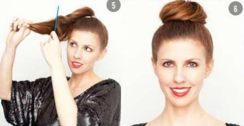 Brötchen Frisuren für langes Haar - Mode und Kleidung ...