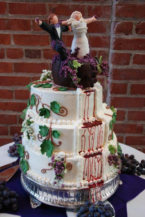 Wine Themed Cake Wedding Foods Cakes Vineyard