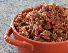 spanish rice with ground beef- delicious and really easy!