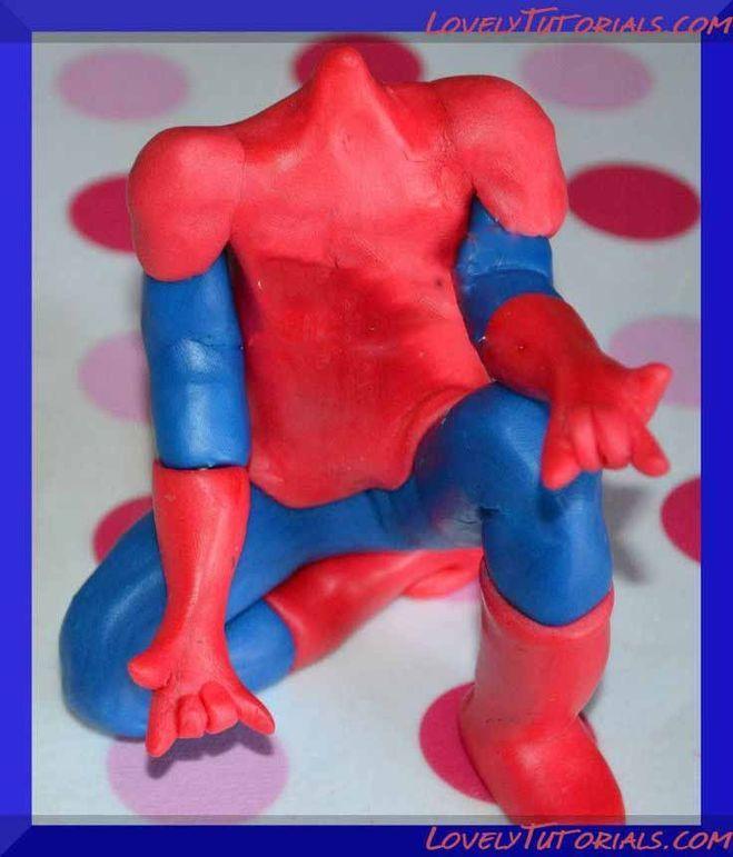 как слепить человека паука из мастики фото прихотлива, своеобразная