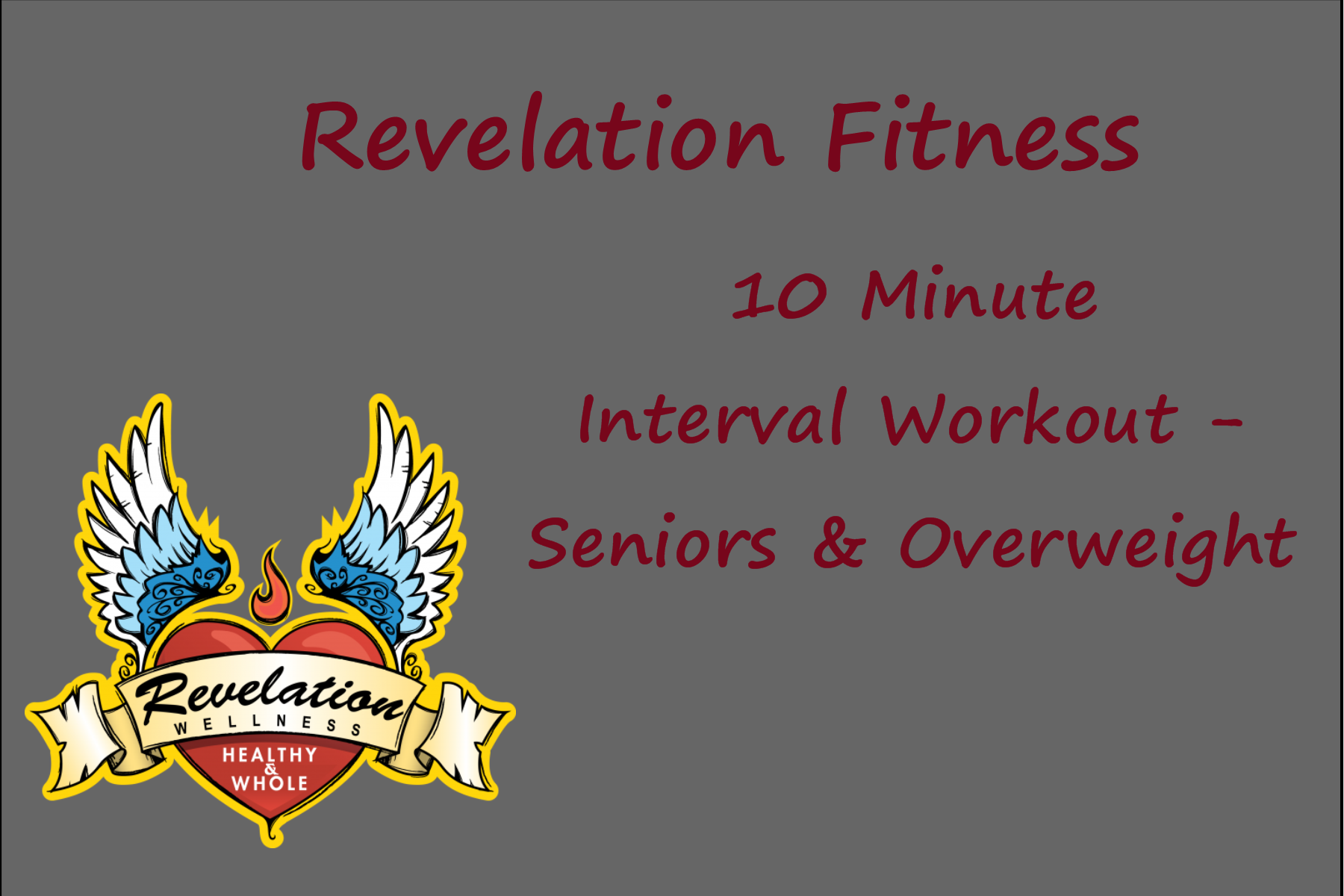 Revelation Wellness AtHome Chair Workout Older Adults