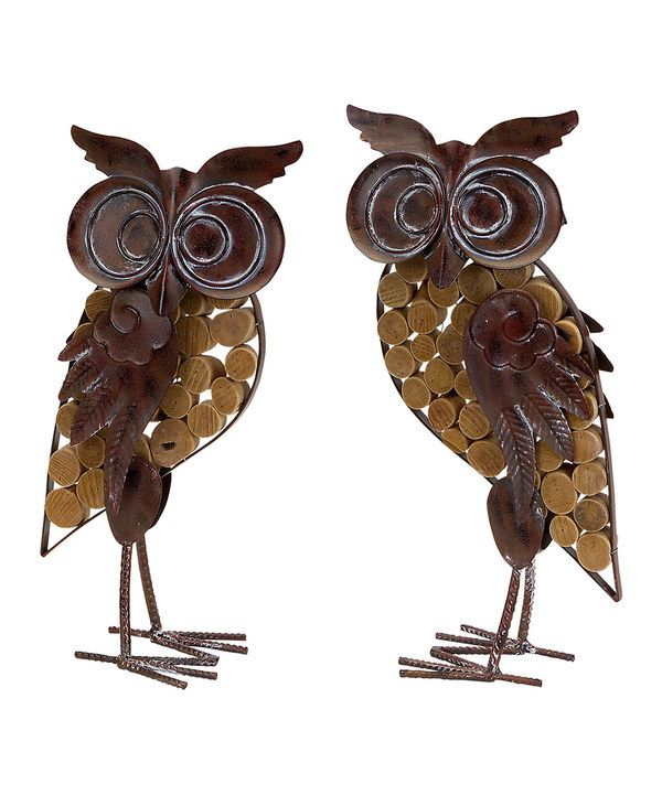 Look at this Brown & Rust Owl Décor Set on #zulily today!