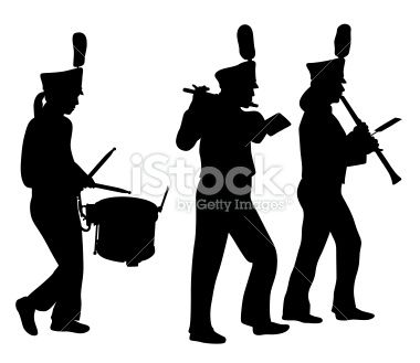 Marching Band Silhouette Clipart - Free Clip Art Images