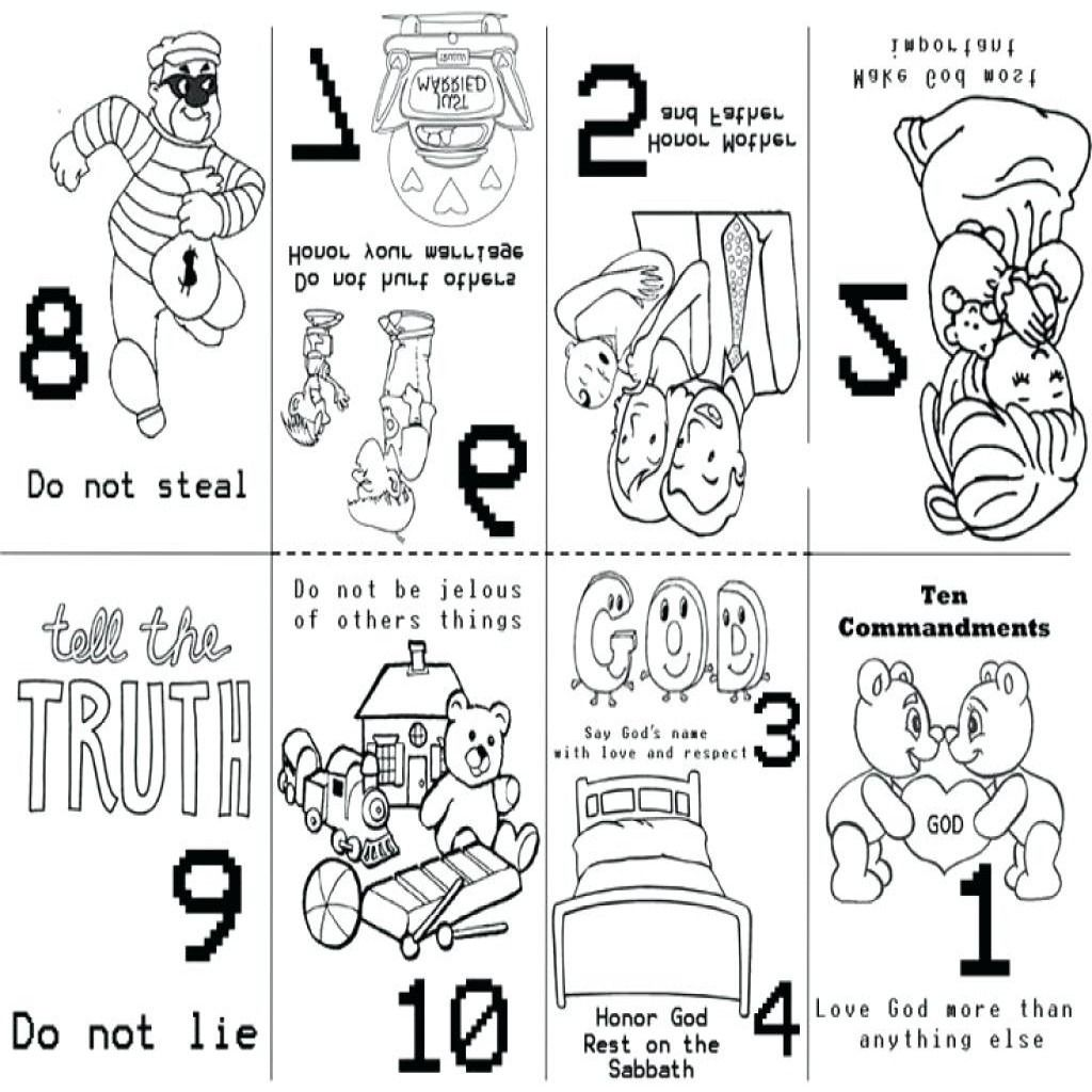 Free Printable Ten Commandments Coloring Pages Ten Commandments