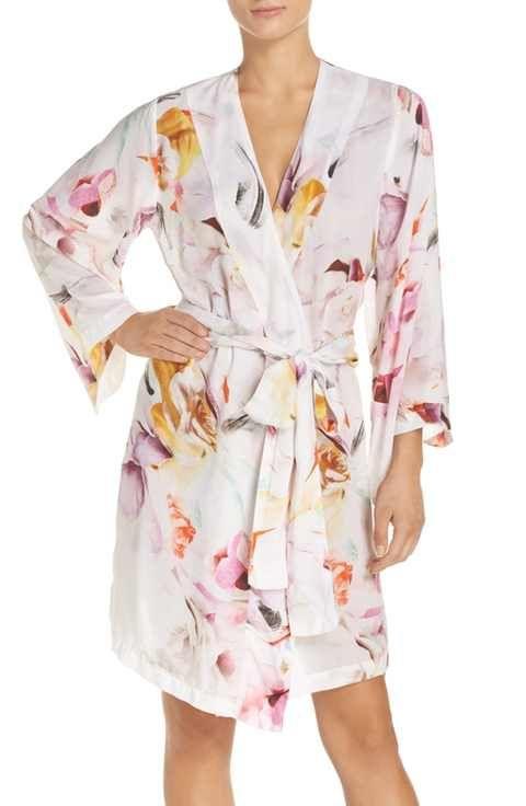 35d999941d Plum Pretty Sugar Floral Print Kimono Robe